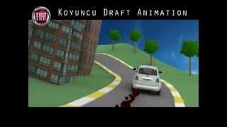 Fiat Eco-Friendly Car 3D Animation